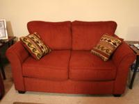Oak Furniture house Red color fabric 3 seater and 2