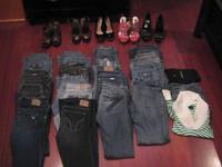 Fabulous LOT Women's 7-9 Clothes 16 pairs of Jeans 1