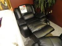 We have this week on sale this black leather recliner -