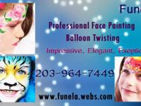 I provide professional face painting and balloon