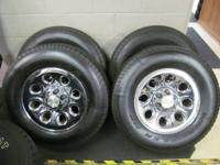"UP FOR SALE IS A SET OF FOUR USED 17"" FACTORY CHEVY"