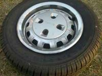factory mazda 4 lug wheels, the tires are new and the