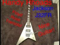 Factory refurbished Jackson J32FR Randy Rhoads V Guitar