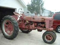 farmall H in failly good condition exallant tires run