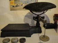 OLD WEIGHT SCALE USED IN THE OLDEN DAYS BY GREENGROCERS