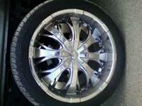 Selling my 22 inch Falken rims with Falken tires on