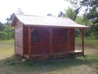 for sale custom built 8x16 cabin with 4' covered porch,