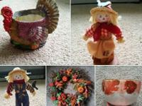 New Fall Decor for sale!Asking $50 ALL.Wreaths, Fall