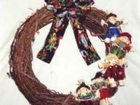 "Brand new handmade wreaths from ""Wreaths By Lisa""."