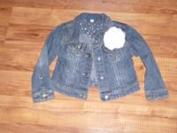 1 jean jacket, 1 skirt, 1 sweater, 1 pair pajamas,
