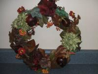 Fall door or wall wreath. $10.
