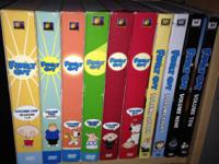 Family Guy DVD set. Contains volumes 1-10. Season 1 and