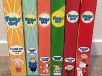 Family Guy Volumes 1-6. $30 for all. Must be able to