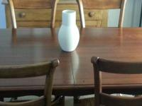 Beautiful all cherry wood table, 4 side chairs and two