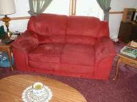 Couch & chair for living or family room Red