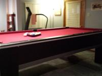 Fantastic pool table offered. We are remodeling our