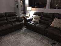 Family Room Set for SaleBrown Real Leather Ashley