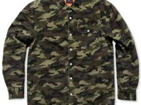Salute seasonal style with this camo-print shirt from