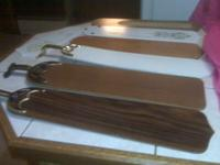 Polished wood fan blades...21 inches long........with