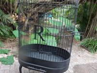 Gorgeous custom made iron cage for large parrots.
