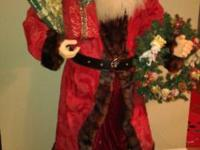5' Tall Santa Claus. Excellent condition. Adds to the