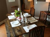 We can build you a custom farm style dining table of