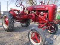 "Farmall Model ""A ""Tractor runs and looks good,very good"