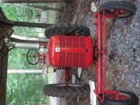 Farmall C with factory Wide front end, restored, strait
