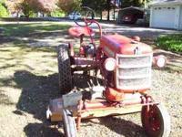 Farmall Cub tractor 1963 serial 222279J Woods 59 inch