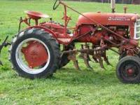 Farmall Cub w/ Cultivators New Carburetor, manifold,