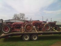 I have 3 farmall cubs for sale or trade for golf cart,