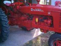 1945 farmall H in very good shape.. Good paint ..could