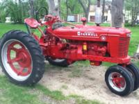 For sale Farmall H narrow front tractor. For more info