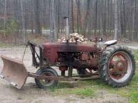 Farmall H with plow. Starts, has some trouble running