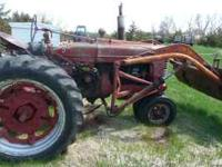 FARMALL M WITH LOADER TRIP BUCKET RUNS GOOD ASKING