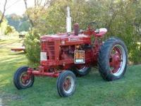 Good looking 1952 Farmall M with wide front end. Starts