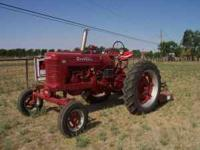 Farmall Model M about a 1955 model. This tractor is on