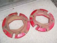 For Sale 1 set of Farmall rear wheel weights, taken off