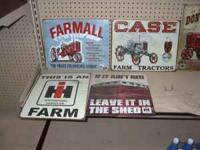 FOR SALE ARE FARMALL SIGNS AT AG-N-POWER LLC 610. S.