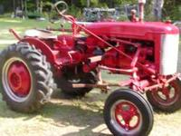 Here is a 1950's Farmall Tractor,been in the family for