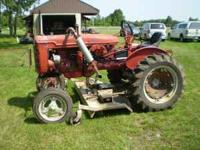 Farmall International Harvester Super A tractor. Nearly