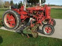 1954 Farmall Super C w/ Fasthitch Runs good, 4 row