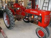 This is a 1949 farmall fender c this tractor has a lot