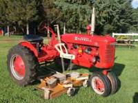 "Farmall B w/60"" Woods finish mower in very good"