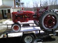 A nicely restored farmall C, this tractor was