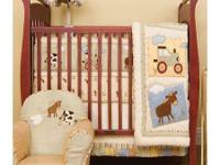 Kidsline Farmhouse baby crib bed linen consists of