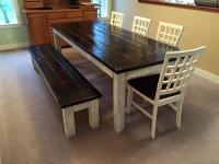 Beautiful finished and painted farmhouse dining table