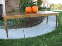 This large custom made farmhouse table is 8 foot long