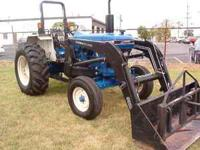 very clean Farmtrac tractor with loader. balespike,