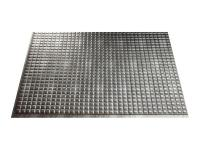 The Fasade 18 in. x 24 in. Crosshatch Silver Squares